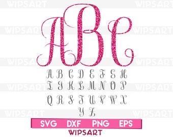 SALE! Fancy Curl monogram svg file, monogram cut file, monogram cricut, monogram vinyl, monogram clipart, monogram silhouette,monogram svg.