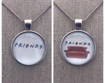 Friends logo pendant.Friends quote pendant.Friends couch pendant .best friend jewelry.Friend jewelry .friend pendant