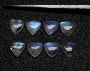 Natural Rainbow Moonstone Flash fire Size 8x8 MM Approx 8 PCs Trillion Cabochon Code- HR05