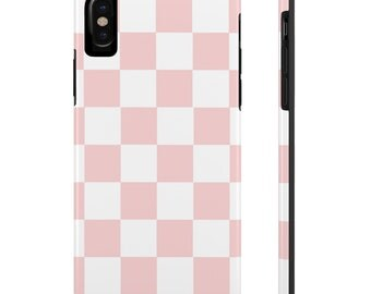 Pink Checkered Iphone Case