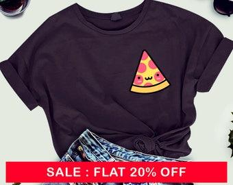 Pizza Pocket Crewneck Tee, Graphic Tee , Funny, Pizza Shirt, Basic Tee, T-Shirt, Workout Shirt, Gym Tee, men's tee