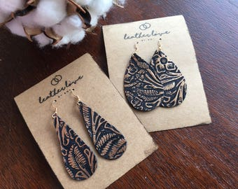 Lady Mary Leather Earrings