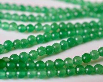 4mm Aventurine beads, full strand, natural stone beads, round, 40001