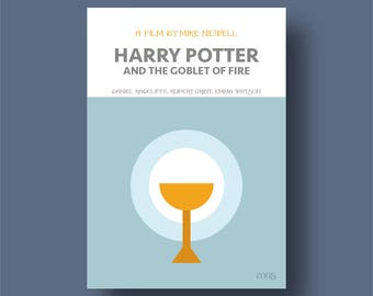Modern retro movie poster, Harry Potter and the Goblet of Fire, minimal poster,