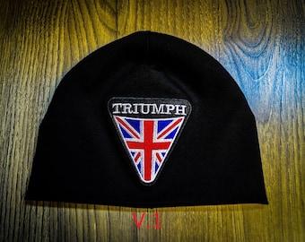 Triumph  moto biker beanie hat skull