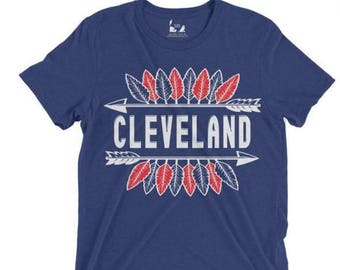 Cleveland Tribal Feather Tee