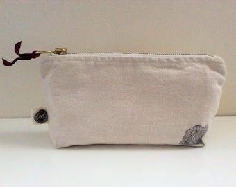 Clutch Bag Ginkgo/ Trousse Gingko