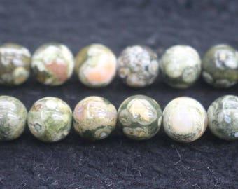 "Natural Birdseye Rhyolite Round Beads,Birdseye Rhyolite beads,6mm 8mm 10mm 12mm Natural beads,one strand 15"",Birdseye Rhyolite Beads"