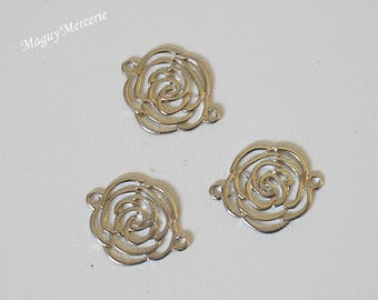 Small separators flowers spacer silverplate set of 3