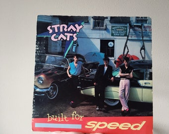 Vintage Vinyl Stray Cats Built for Speed 1982 Record