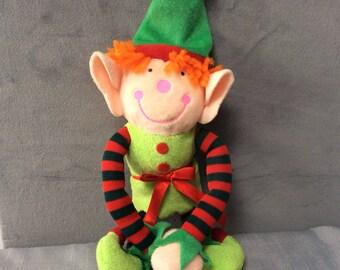 Soft christmas toy naughty mischief teddy elf santas helper