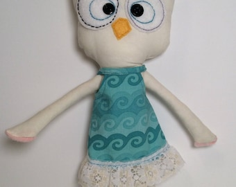 """Rag Doll """"Tessie Owl"""", Rag Doll, Owl stuffy, Owl Doll, Owl stuffed animal"""