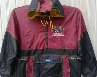 Vintage Runbird Mizuno Windbreaker Jacket Half Zipper