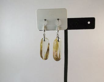 Cherry Volcano Quartz Earrings