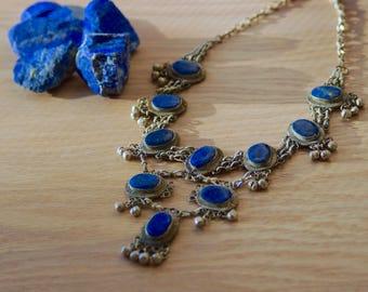 Lapis Lazuli Necklace // Vintage Lapis Lazuli Necklace // Kuchi Necklace //  Afghan Necklace // Tribal Necklace // Nomad Necklace // Afghan