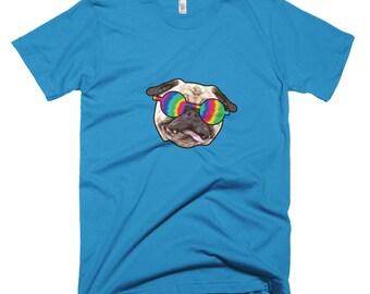 Hippie Pug Short-Sleeve T-Shirt