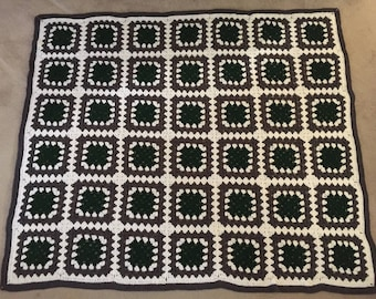 Crocheted Afghan - Forest Ash