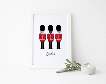 London Travel Art Print - Queen's Guards