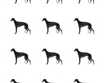12 x Greyhound Dog Breed Edible Stand Up Wafer Cupcake Toppers x 12