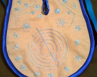 Blue flower pocket