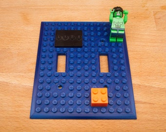 Lego double light switch cover plate