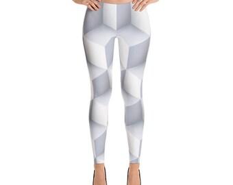 3D White Leggings