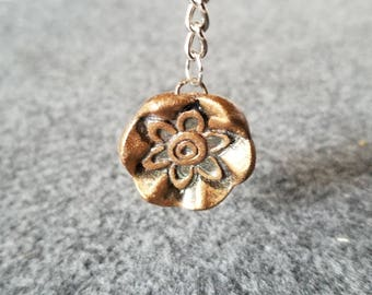 Flower Print Key Chain