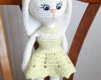 Crochet Bunny Amigurumi Bunny girl  Crochet doll Bunny Crochet rabbit  Gift for girl Baby shower gift Nursery decor Gift to Easter