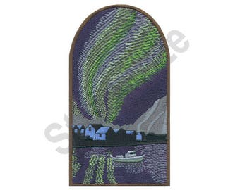 Northern Lights - Machine Embroidery Design