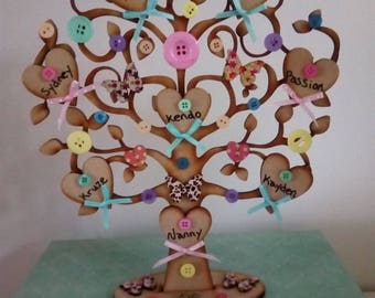 Personalised Wooden Freestanding Family Trees