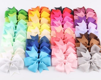 40pc bow ribbon set /40 colors girls ribbon bow with clips /Hairpins /Alligator metal clips/Hair bows /AM/ Toddler hair accessories.