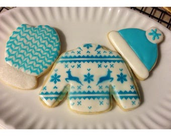 Christmas Sweater Cookie Set