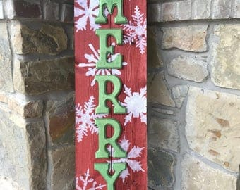 Merry Christmas Porch Sign