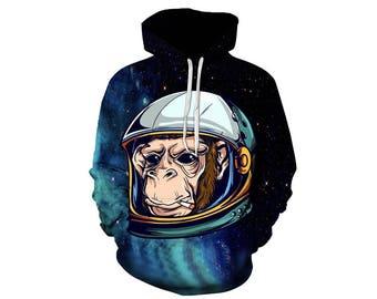Monkey Hoodie, Monkey, Monkey Hoodies, Animal Prints, Animal Hoodie, Animal Hoodies, Monkeys, Hoodie, 3d Hoodie, 3d Hoodies - Style 4