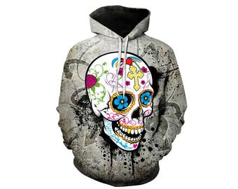 Skull Hoodie, Skull, Skull Hoodies, Skull Prints, Scalp Hoodie, Gothic, Skeleton, Skulls, Scalp, Hoodie, 3d Hoodie, 3d Hoodies - Style 14