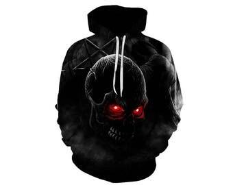 Skull Hoodie, Skull, Skull Hoodies, Skull Prints, Scalp Hoodie, Gothic, Skeleton, Skulls, Scalp, Hoodie, 3d Hoodie, 3d Hoodies - Style 16