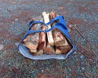 Firewood foraging sling - wood carrier - camping - woodstove - fireplace - gathering - campfire - firepit