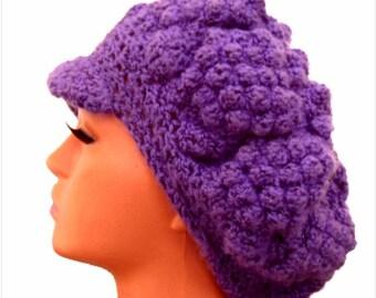 Womens newsboy hat, Winter knit hat, Crochet hat for women, Teens winter hat,Ladies hats,Womens winter hats,Girls winter hat, gift for her