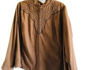 Vintage Bob Mackie Wearable Art Jacket in Shell Medium