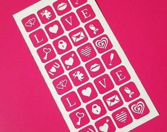 Valentine's Day Nail Vinyls