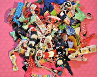 Lot of 10 Assorted No Crease Hair Ties / Bracelets