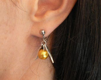 Harry Potter Inspired Golden Snitch Earrings Clip-on No-Piercings Needed Valentines Gift