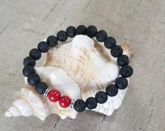 Diffuser Black Lava Rock bracelet