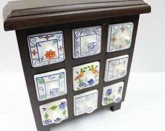 Vintage Spice Cabinet, Vintage Spice Rack, Vintage Herbs Cabinet, Vintage  Jewelry Cabinet,