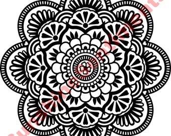 Mandala Clipart Digital Download, SVG, EPS, DXF, vinyl and laser cutting, t-shirt design, wall art, printable