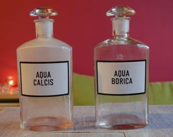 Vintage pharmacy glass bottle - EXTRA LARGE