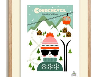 Personalized winter A4 print