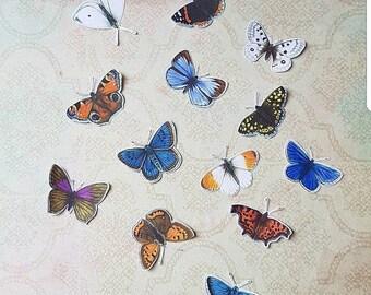 Butterfly stickerset 3