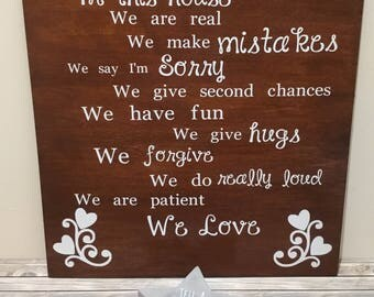 Beautiful handmade wooden wall art with inspirational quote