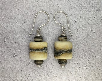 Fine Silver & Lampwork beads drop Earrings